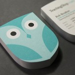 Die Cut Owl Business Cards