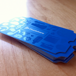 Die Cut Spot Finished Ticket Business Cards