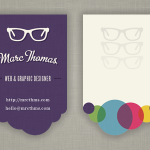 Die Cut Designer Business Card