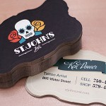 Die Cut Tattoo Business Card