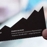 Die Cut Financial Business Card