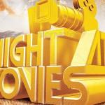 Night At the Movies Postcard Design