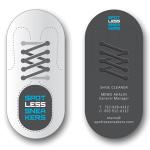 Die Cut Shoe Cleaner Business Card